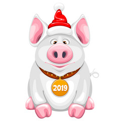 cartoon piggy vector image