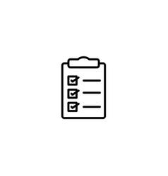 checklist clipboard icon vector image