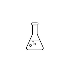 Chemical line icon laboratory glass sign vector