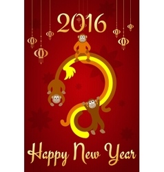Chinese new year postcard vector