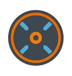 circle aim target icon flat style vector image