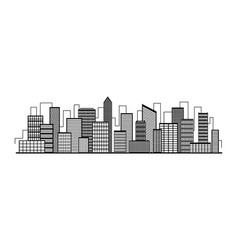 city silhouette icon with windows vector image