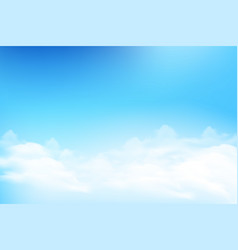 Cloud and blue sky background vector