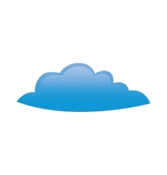 Cloud shape icon Weather concept graphic vector