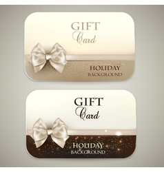 Collection of gift cards vector