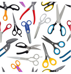 colored scissors pattern vector image