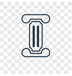 columns concept linear icon isolated on vector image