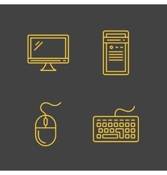 Computer devices and computer peripherals vector