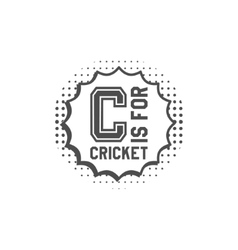 Cricket monogram emblem and design elements logo vector