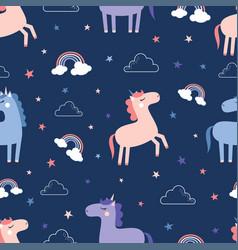 cute magical unicorn vector image