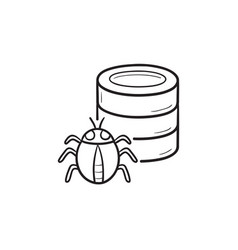 database bug hand drawn outline doodle icon vector image