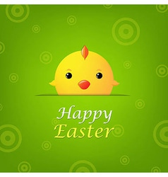 Easter banner with chicken vector