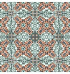 Floral geometric tiles design vector