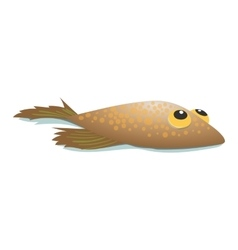 Flounder comic cartoon icon vector image