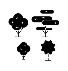 garden decoration black icon concept garden vector image