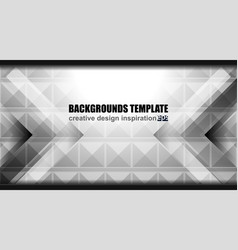 Geometric grey background design vector