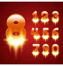 Glowing Numbers Set vector image