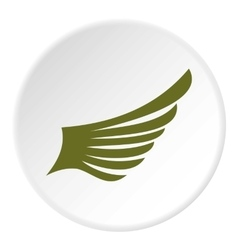 Green wing bird icon flat style vector