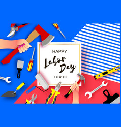 happy labor day greetings card for national vector image