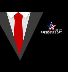 happy presidents day design vector image