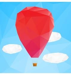 Hot air ballon polygonal vector