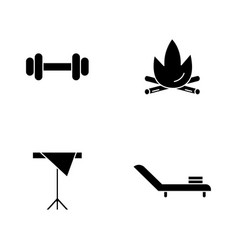 Hotel service black glyph icons set on white space vector
