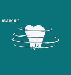 icon - white molar - decorative design - flat vector image