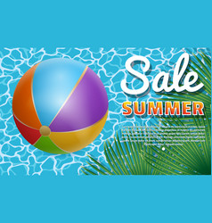 inflatable ball banner1 vector image