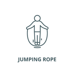 jumping rope line icon linear concept vector image