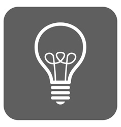 Lamp Bulb Flat Squared Icon vector