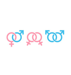 male and female symbol combination gender and vector image