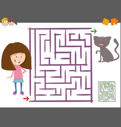 maze activity for children vector image