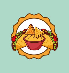 mexican food card vector image