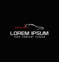 mini van auto logo design concept template vector image