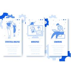 modern flat cartoon characters digital marketing vector image