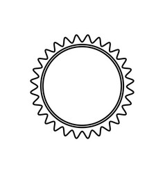 Monochrome contour with sun close up vector