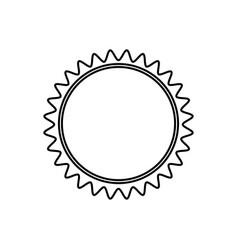 Monochrome contour with sun close up vector
