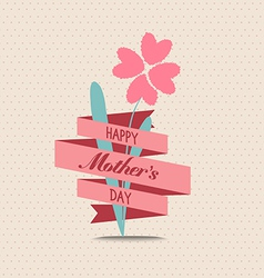 Mothers day flower greeting card vector