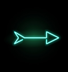 Neon glowing arrow pointer vector