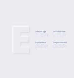 Neumorphic infographic presentation slide vector
