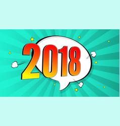 new year pop art splash background explosion vector image