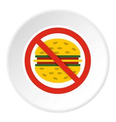 No fast food icon circle vector