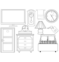 objects of interior vector image