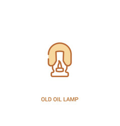 Old oil lamp concept 2 colored icon simple line vector