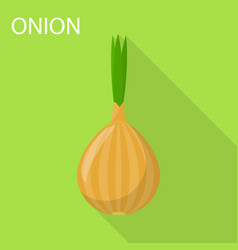 onion icon flat style vector image
