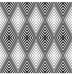 Op Art Black White Seamless Geometric Pattern vector
