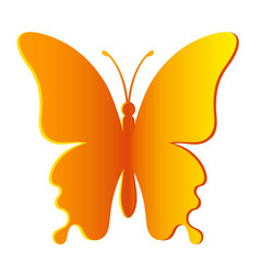 paper yellow realistic butterfly vector image