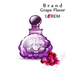 perfume or potion realistic grapes flavor vector image