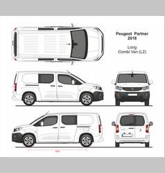 Peugeot partner combi long van l2 2018-present vector
