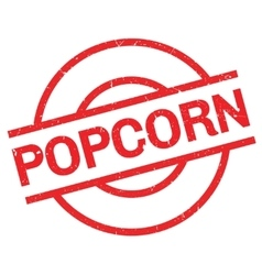 Popcorn rubber stamp vector image